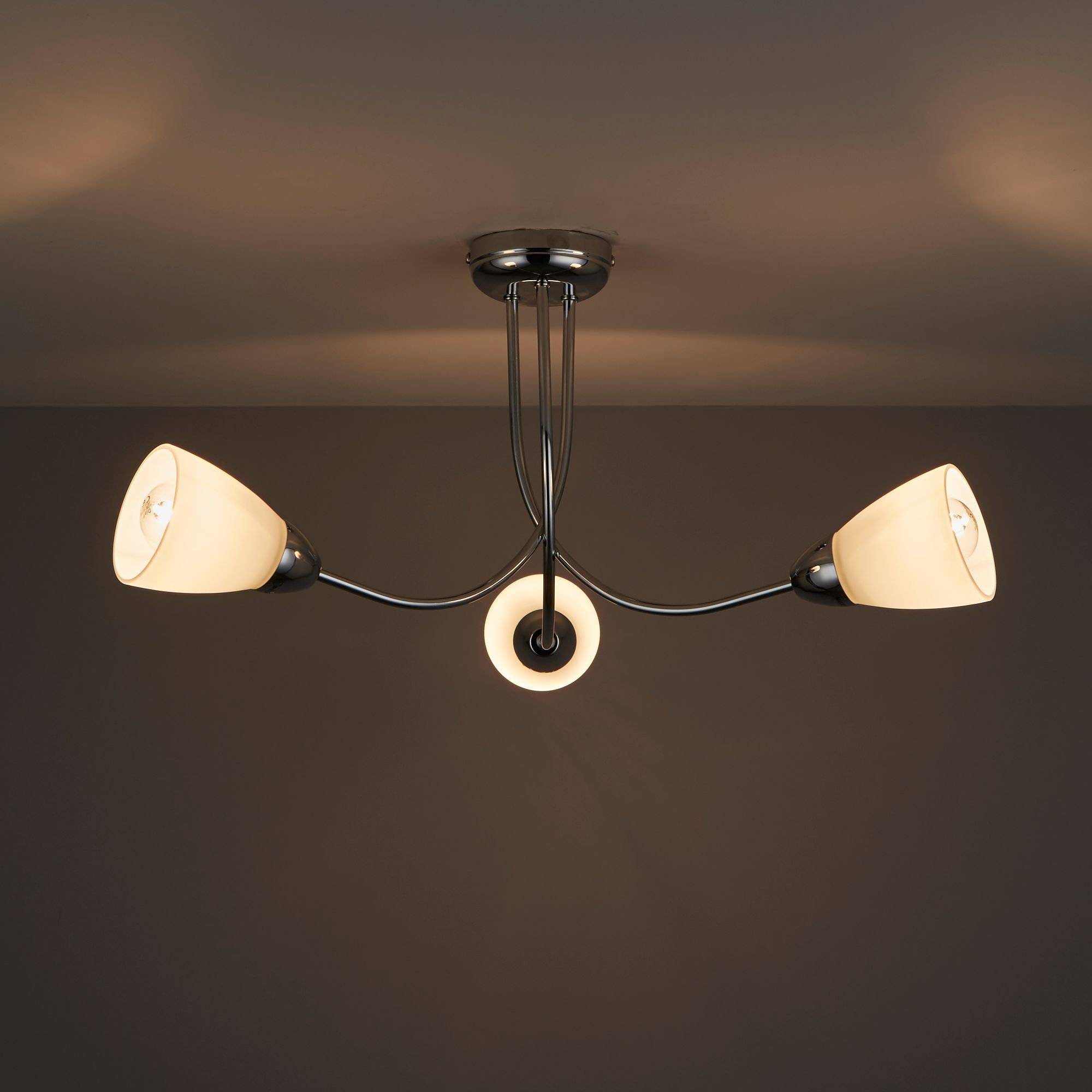 cura chrome effect 3 lamp ceiling light departments. Black Bedroom Furniture Sets. Home Design Ideas