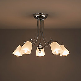 Trivia Chrome Effect 5 Lamp Ceiling Light