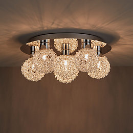 Caelus Chrome Effect 6 Lamp Ceiling Light