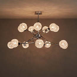Caelus Chrome effect 14 Lamp Ceiling light