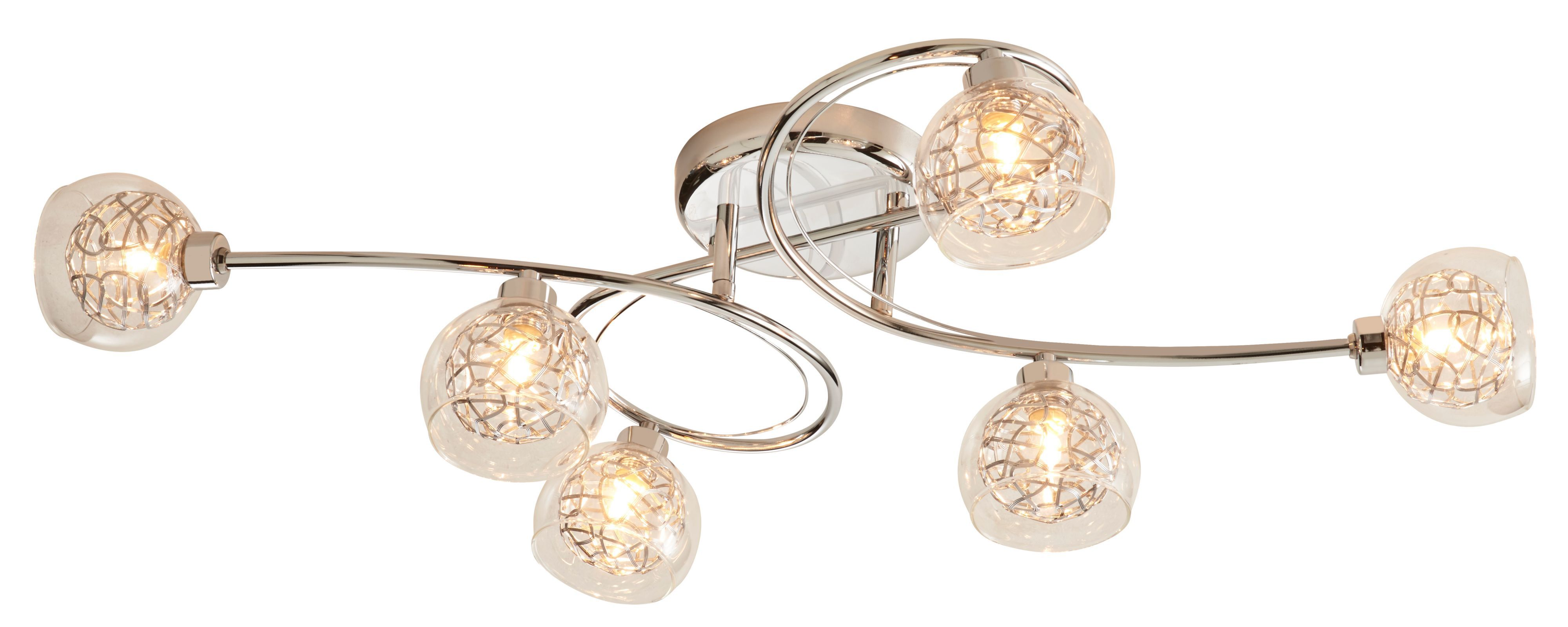 Carmenta Chrome Effect 6 Lamp Ceiling Light Departments