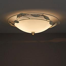 Honos Cream & gold Brushed 2 Lamp Ceiling