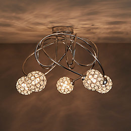 Mantus Chrome Effect 5 Lamp Ceiling Light