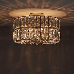 Parcae Chrome Effect 3 Lamp Ceiling Light