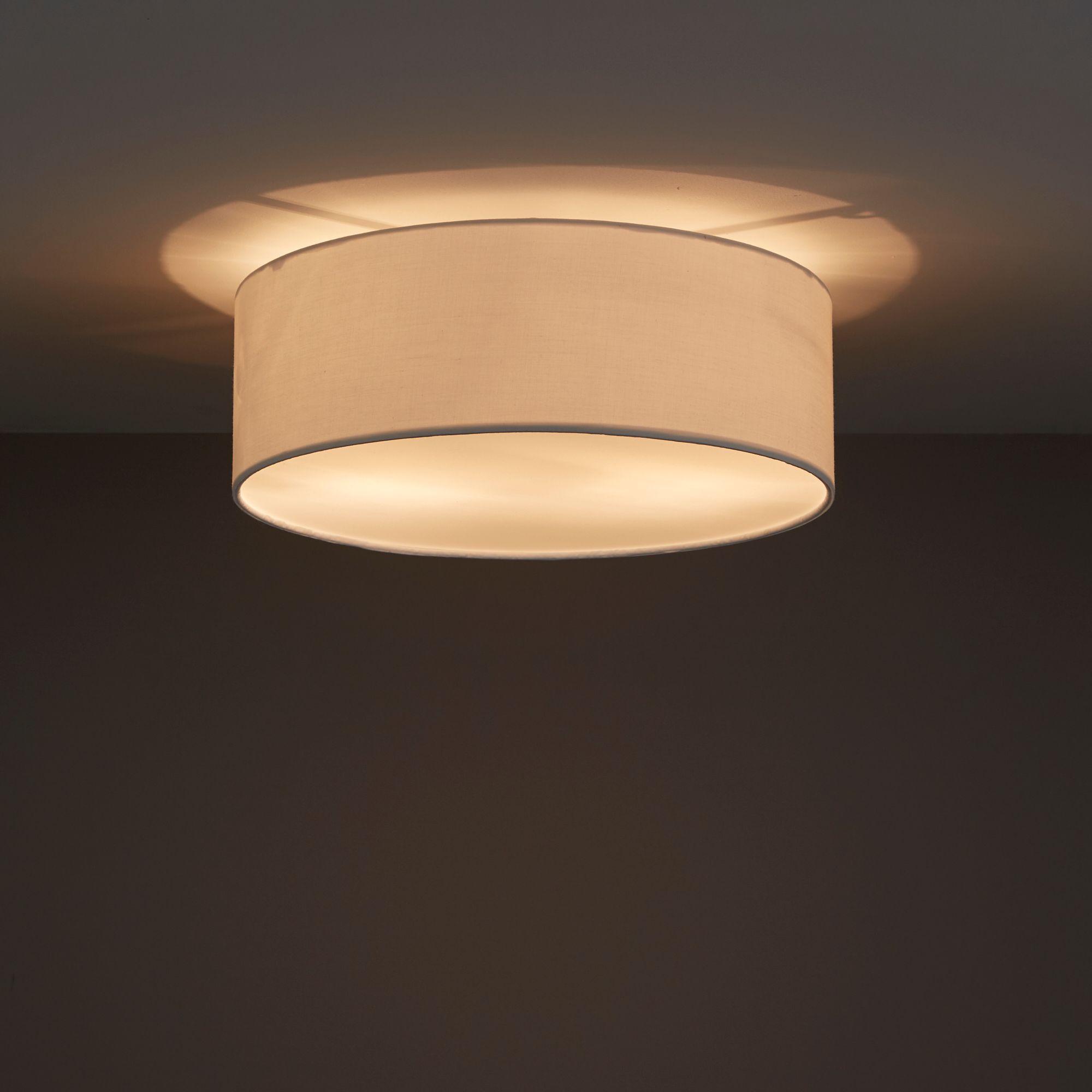 Sphera Brushed Cream 2 Lamp Ceiling Light Departments Diy At B Q