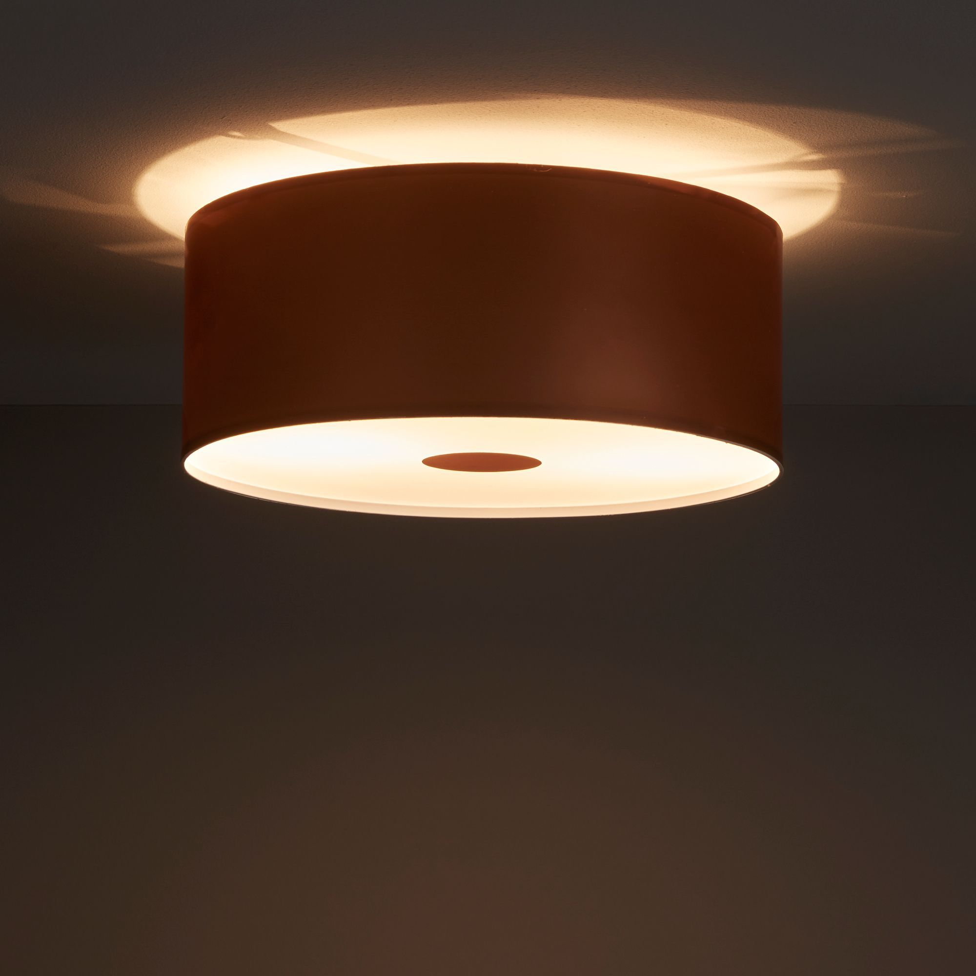 Letum Brushed Copper Effect 2 Lamp Ceiling Light