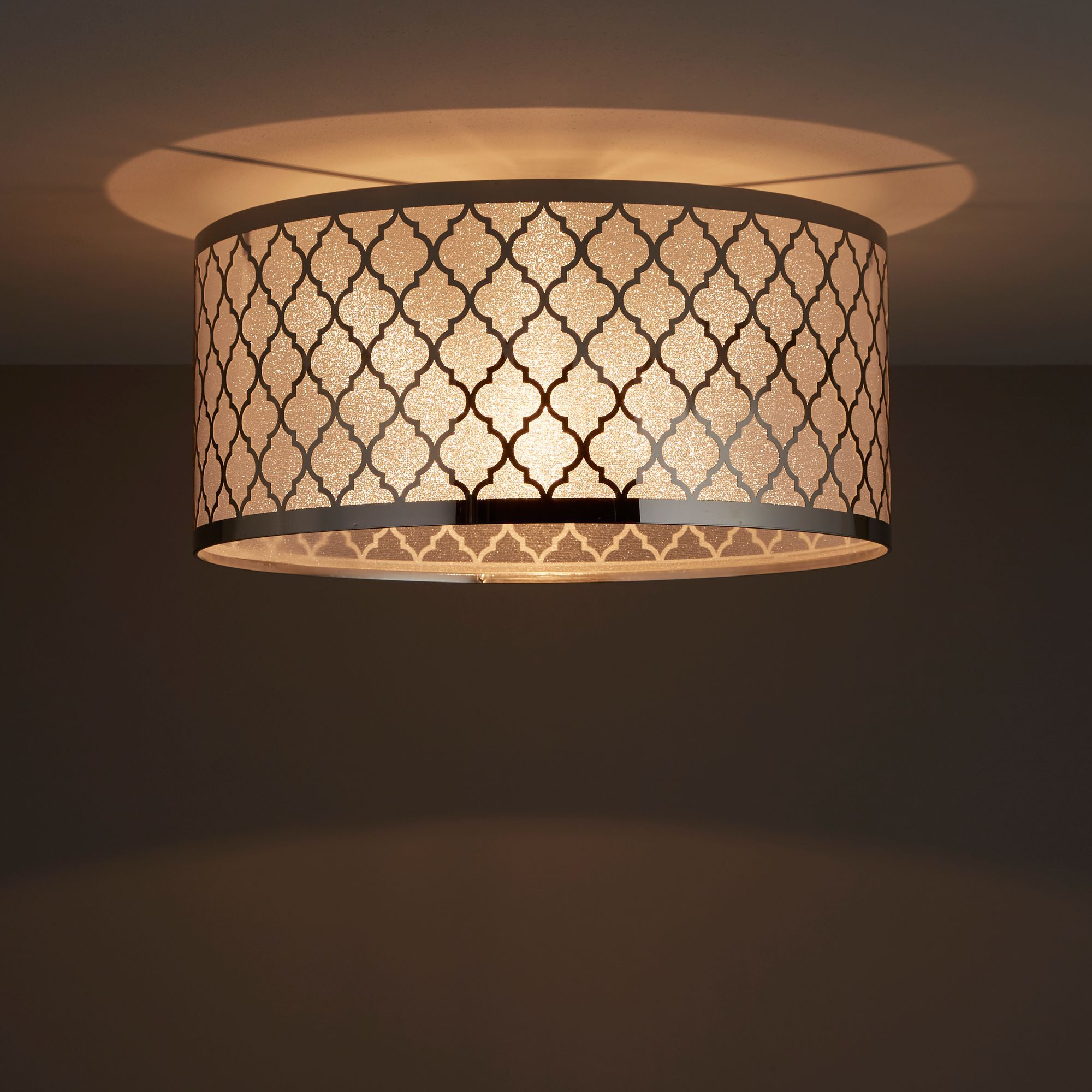 Aula Trellis Chrome effect Ceiling light