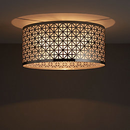 Aula Geometric Chrome effect Ceiling light