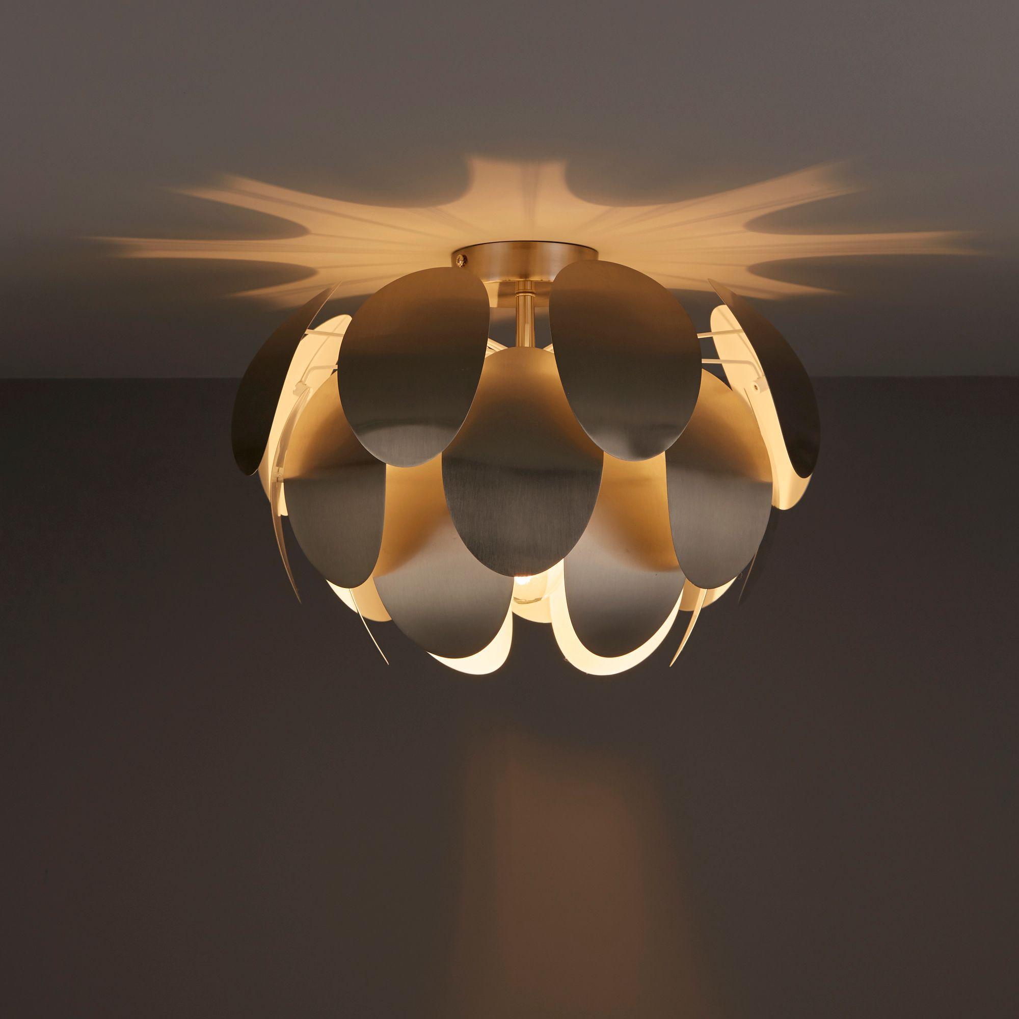 Fleurus brushed chrome ceiling light departments diy at bq aloadofball Gallery