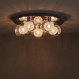 Camenae Chrome Effect 5 Lamp Ceiling Light