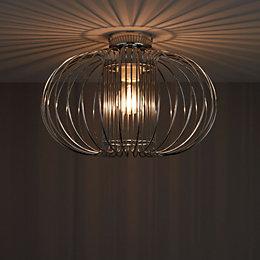 Filum Chrome Effect Ceiling Light