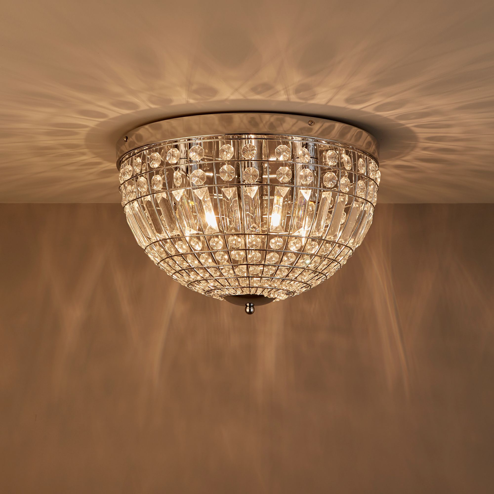 Kryos Chrome effect 3 Lamp Ceiling light