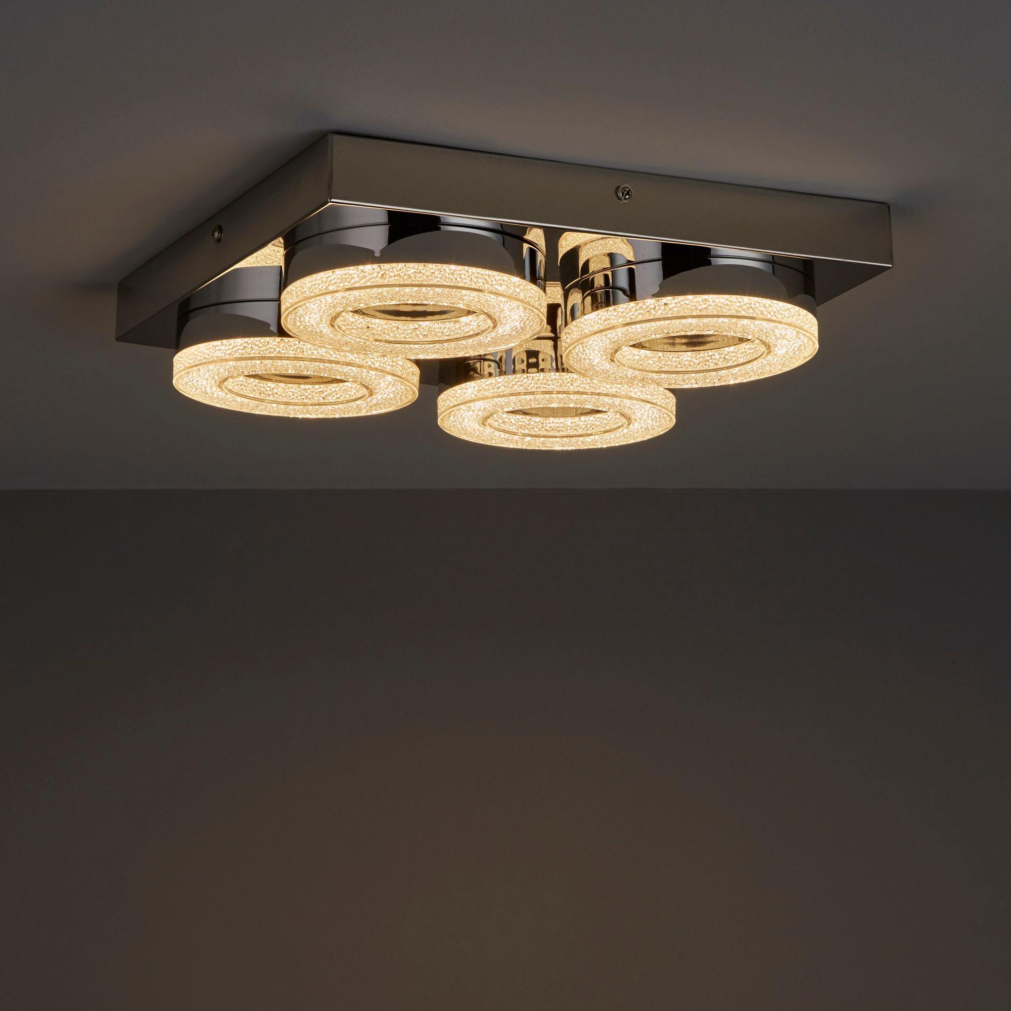 Perna Chrome Effect Ceiling Light