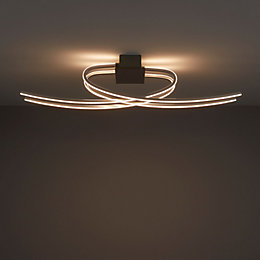 Curba Chrome effect 4 Lamp Ceiling light