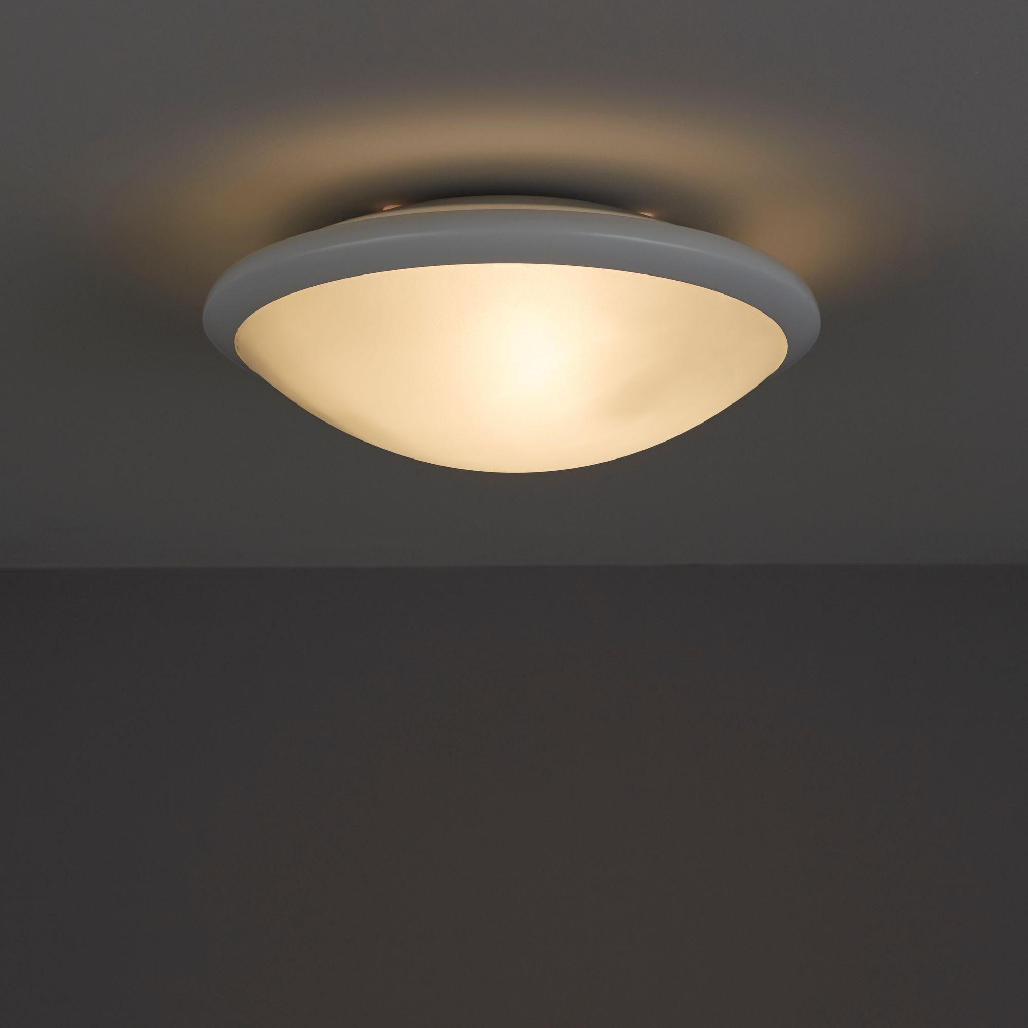 dulcis white ceiling light departments diy  bq