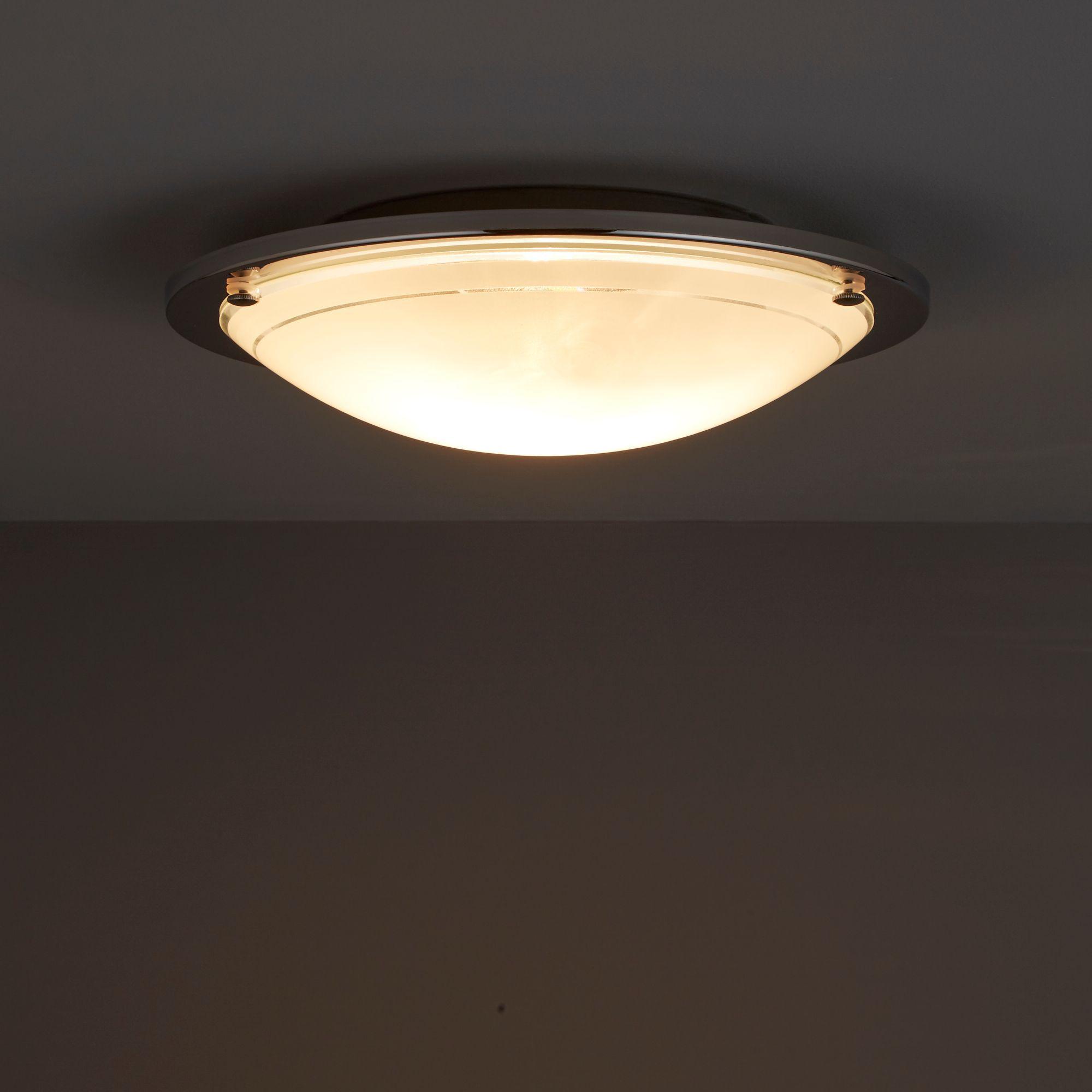 Hubaa Chrome Effect Ceiling Light