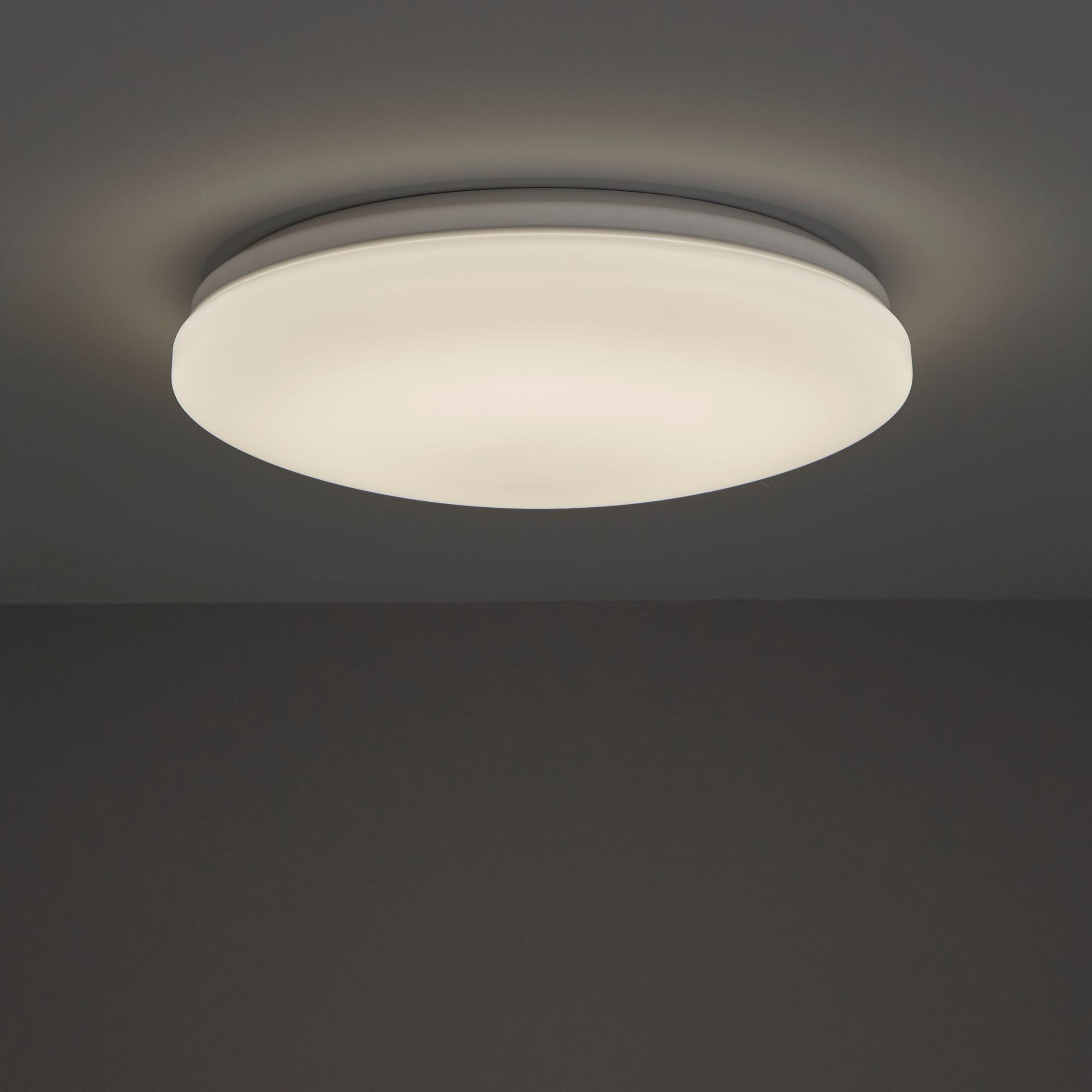White pir sensor ceiling light departments diy at bq white pir sensor ceiling light departments diy at bq aloadofball Gallery
