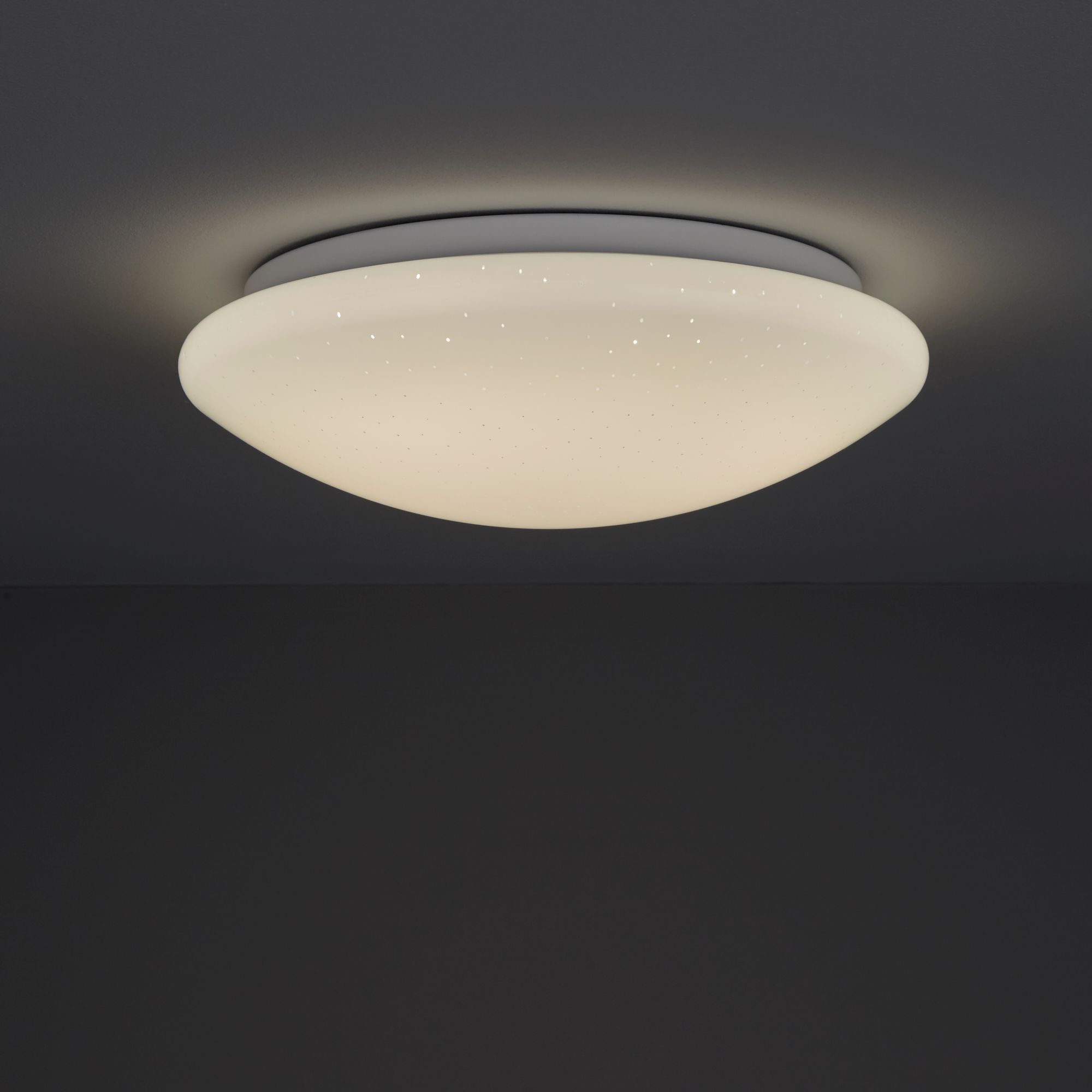 Picture of: Leto Brushed White Ceiling Light Departments Diy At B Q