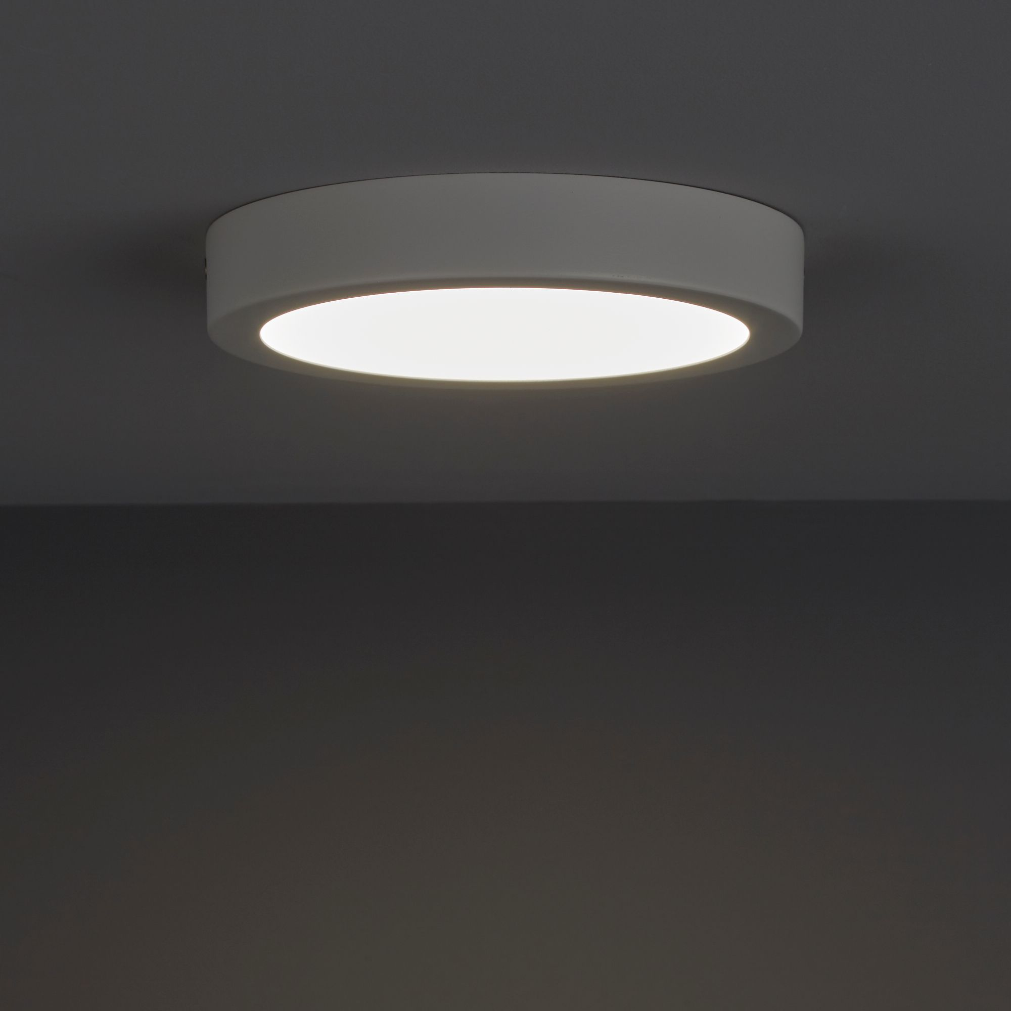 best service e2aab 90038 Aius Brushed White Ceiling light | Departments | DIY at B&Q