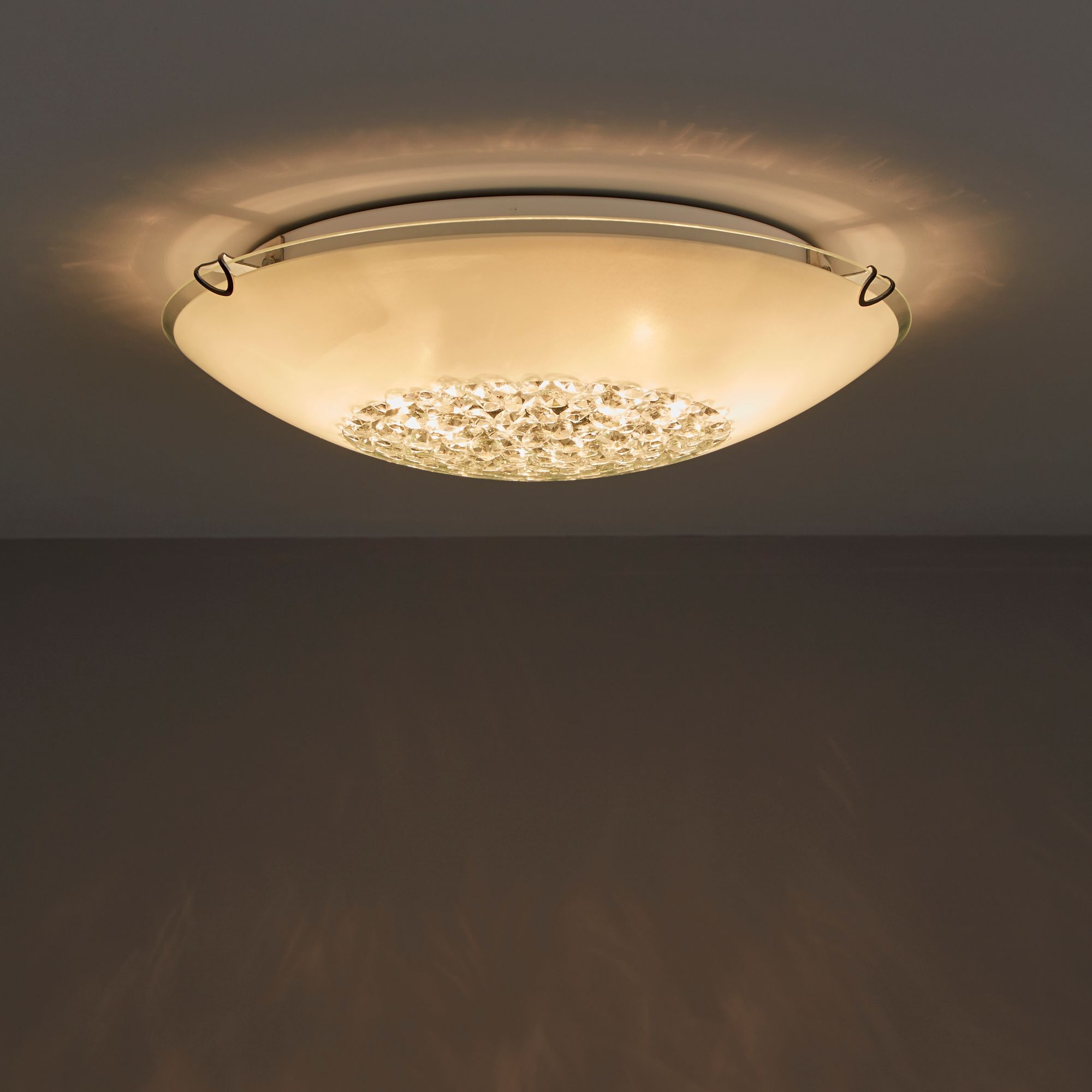 Gaia White 2 Lamp Ceiling light