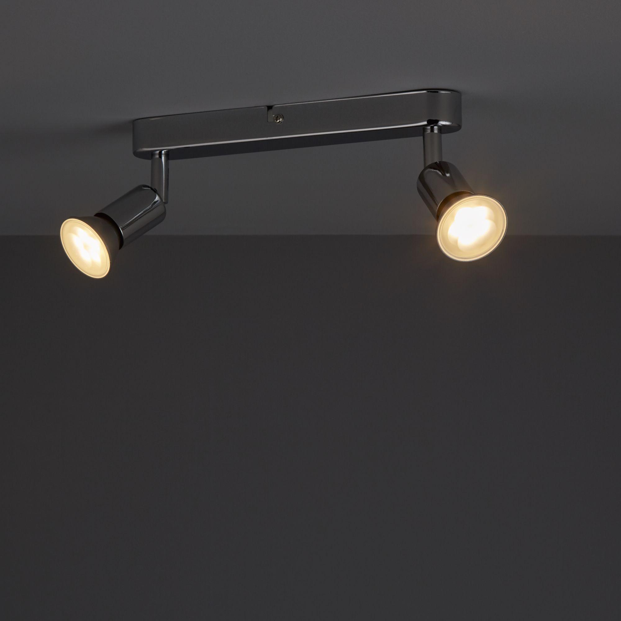 Chrome Effect 2 Lamp Spotlight