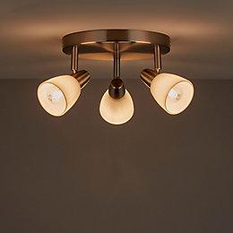 Aphaea Brushed Chrome Effect 3 Lamp Spotlight