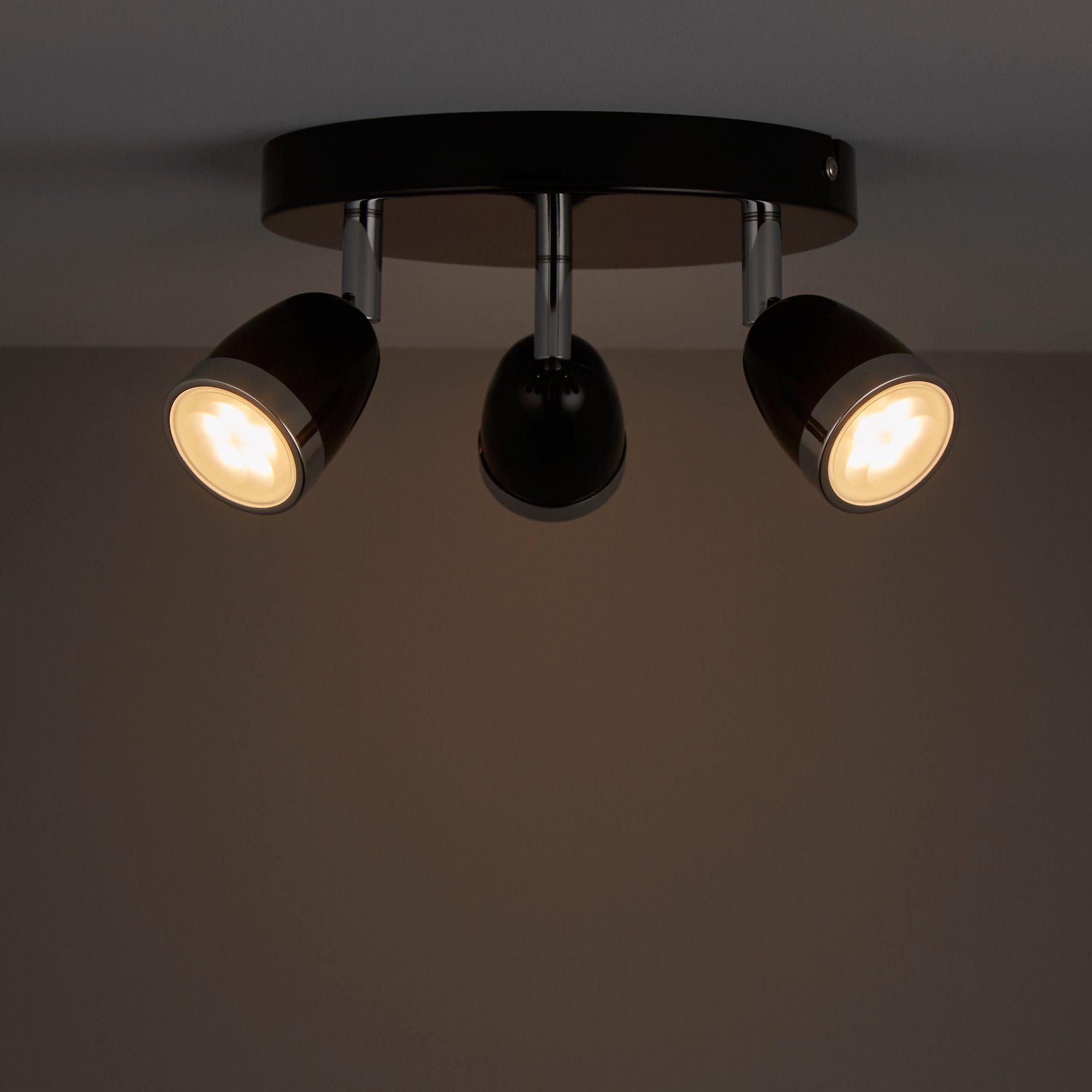 Apheliotes Black 3 Lamp Spotlight