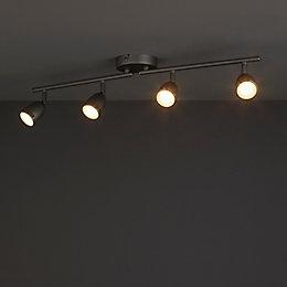 Apheliotes Silver Effect 4 Lamp Spotlight