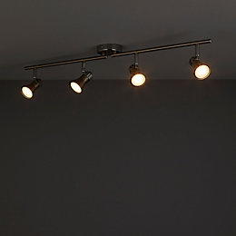Aphroditus Brushed Chrome Effect 4 Lamp Spotlight
