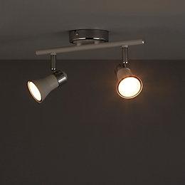 Aphroditus White 2 Lamp Spotlight