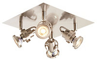 Arachne Satin nickel effect 4 Lamp Spotlight