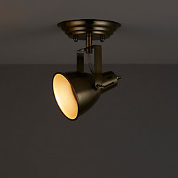 Asterion Antique brass Spotlight