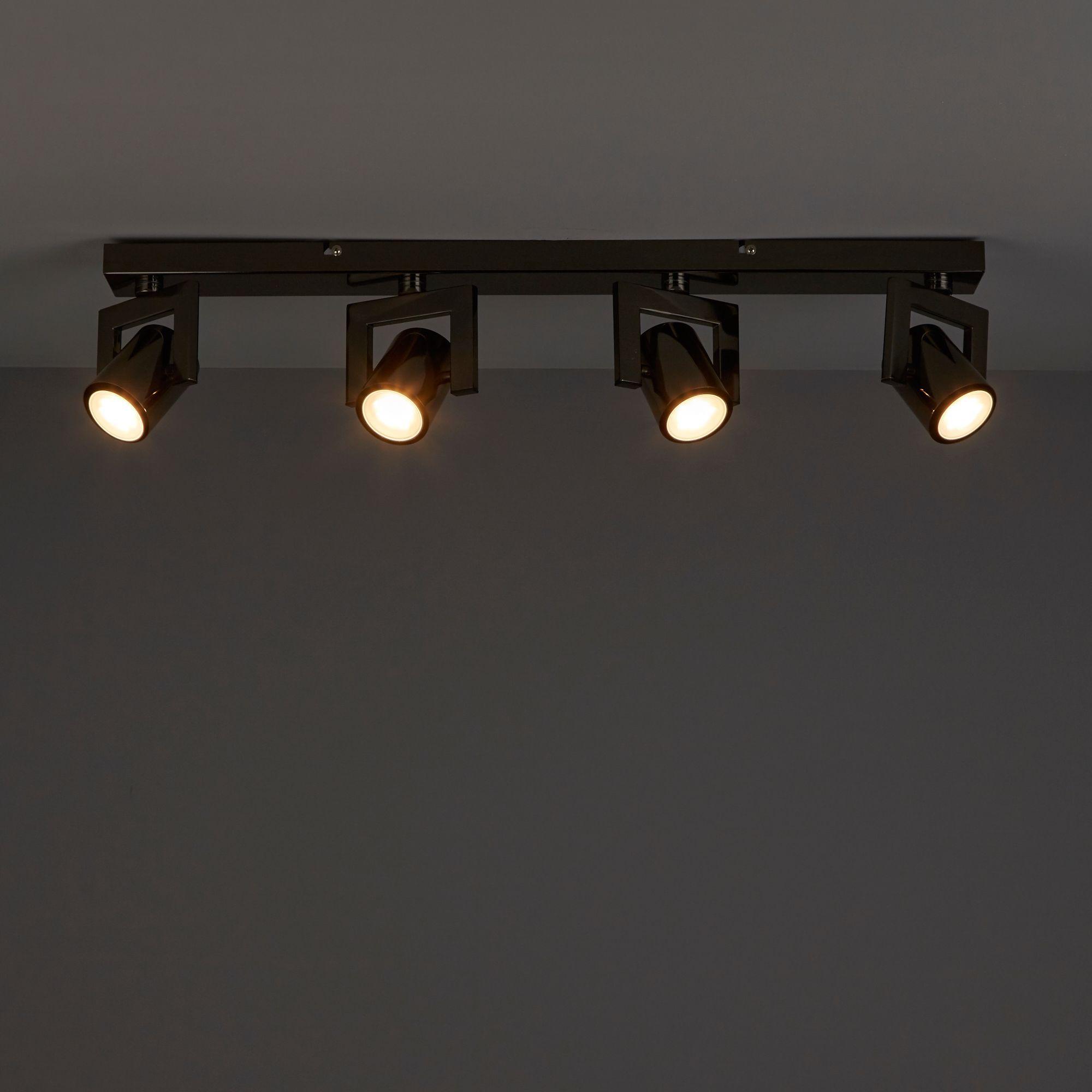 Galene Gun metal effect 4 Lamp Spotlight
