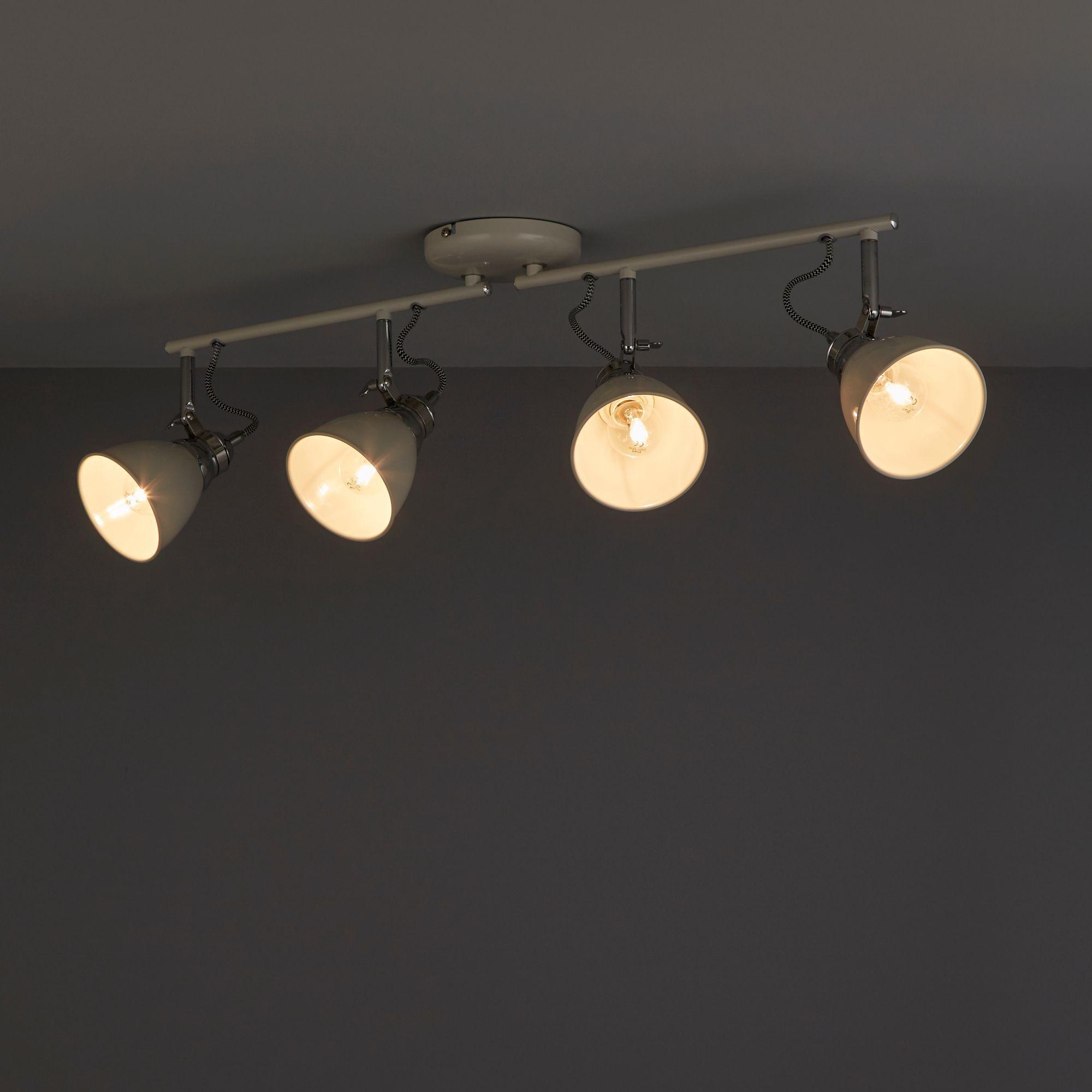 Hippolyta Limestone Gloss 4 Lamp Spotlight