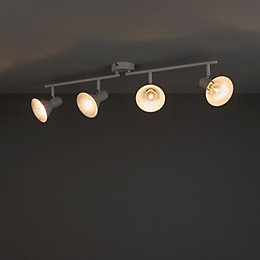 Kedros White & Silver Effect 4 Lamp Spotlight