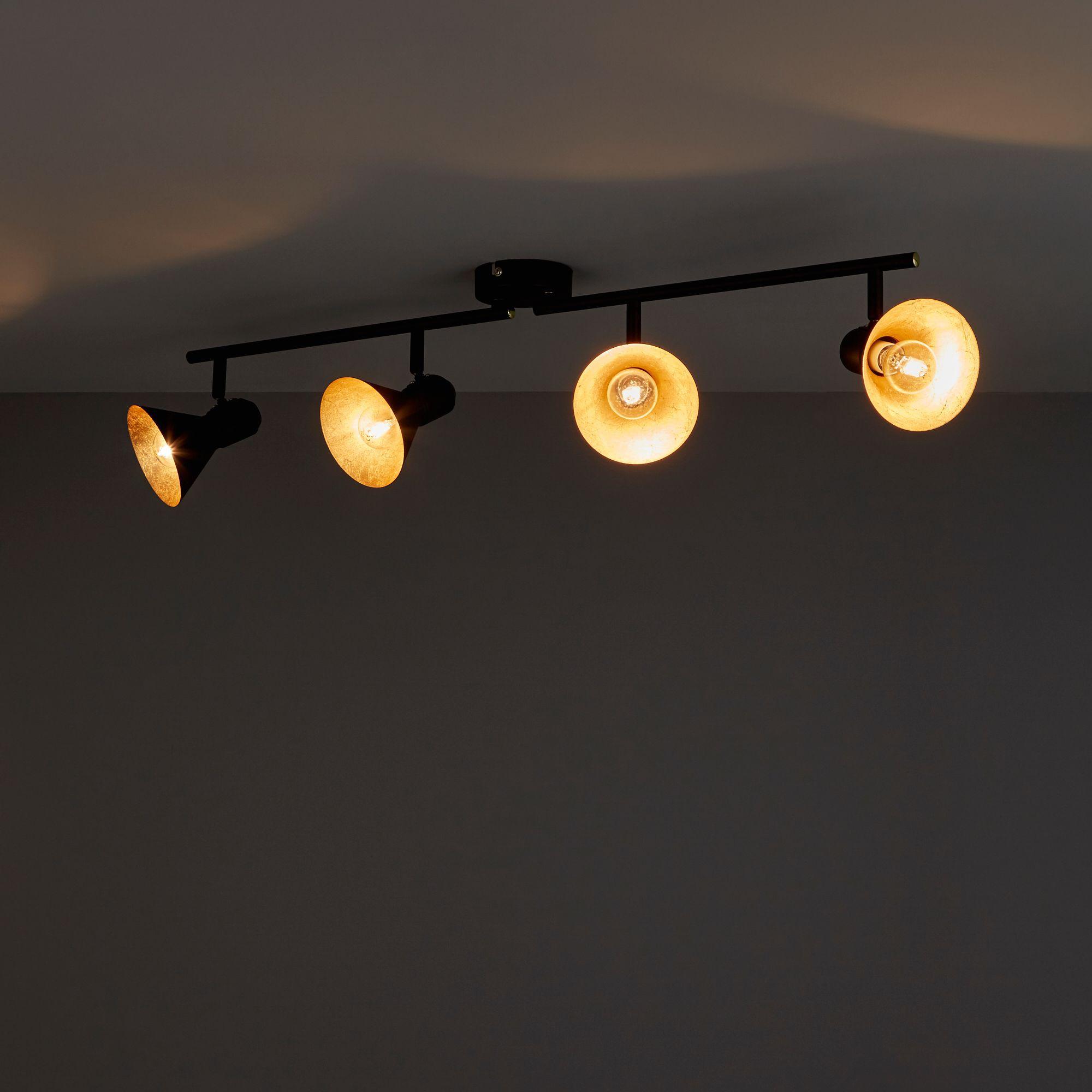 Kedros Black & gold effect 4 Lamp Spotlight