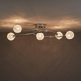 Phaidros Chrome Effect 5 Lamp Spotlight