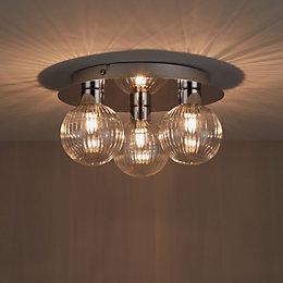 Eupraxia Chrome Effect 3 Lamp Spotlight