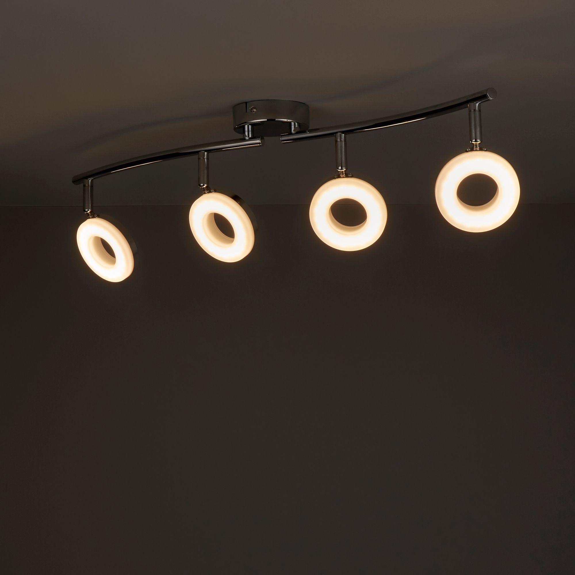 Muesis Chrome effect 4 Lamp Spotlight