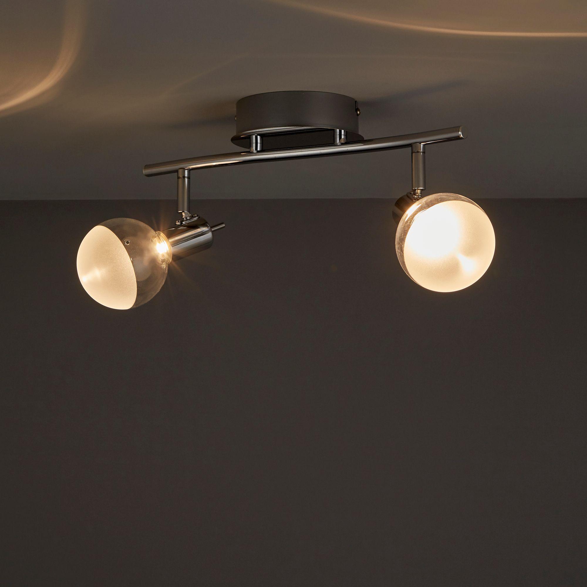 Panacea Chrome effect 2 Lamp Spotlight