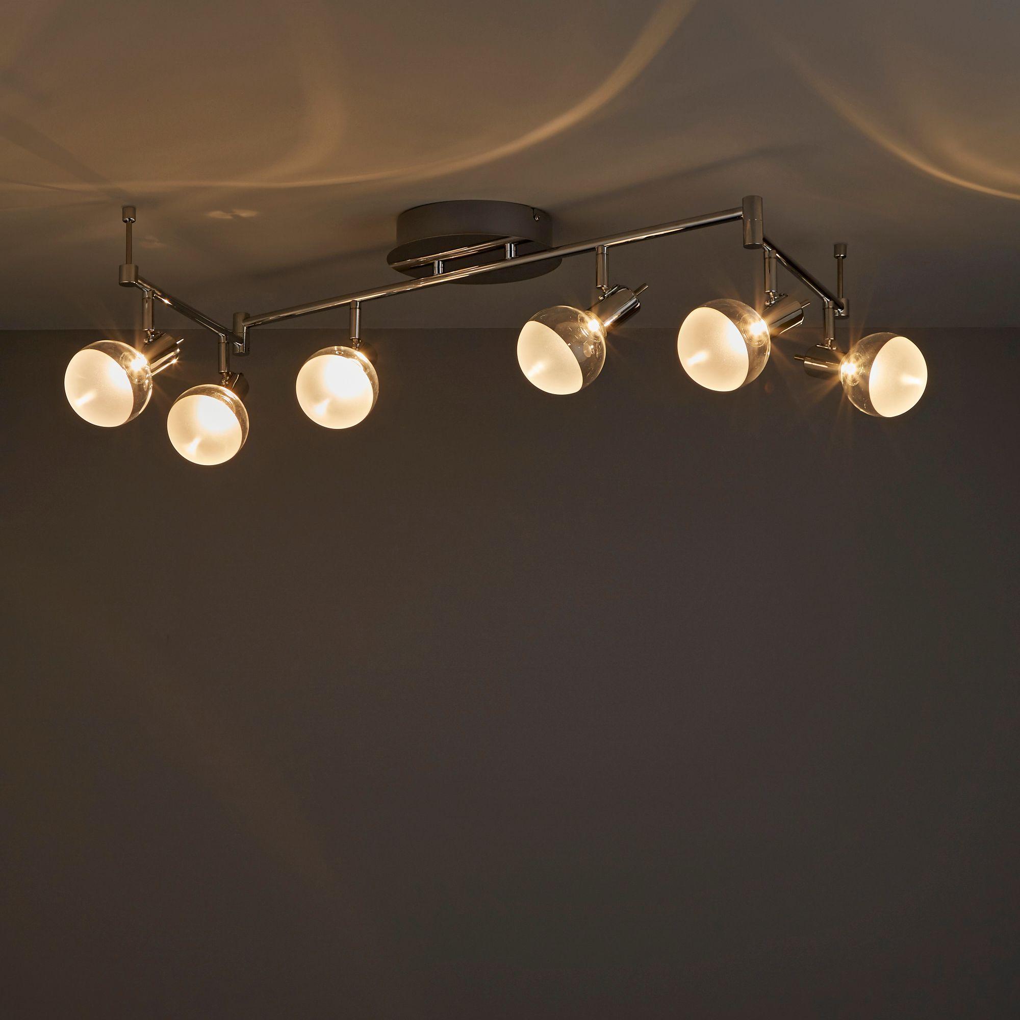Panacea Chrome Effect 6 Lamp Spotlight