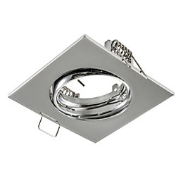 Colours Chrome effect Adjustable Square Downlight bezel IP20