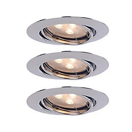 Chrome Effect LED Adjustable Recessed Downlight 3.8 W