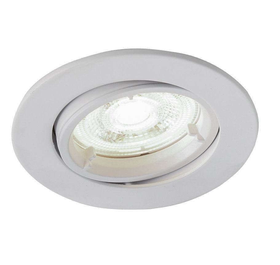 Colours Matt White Adjustable LED Downlight 4.9W IP20 ...