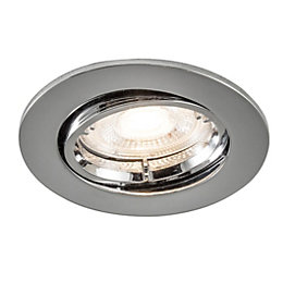 Colours Chrome effect LED Adjustable Recessed downlight 4.9