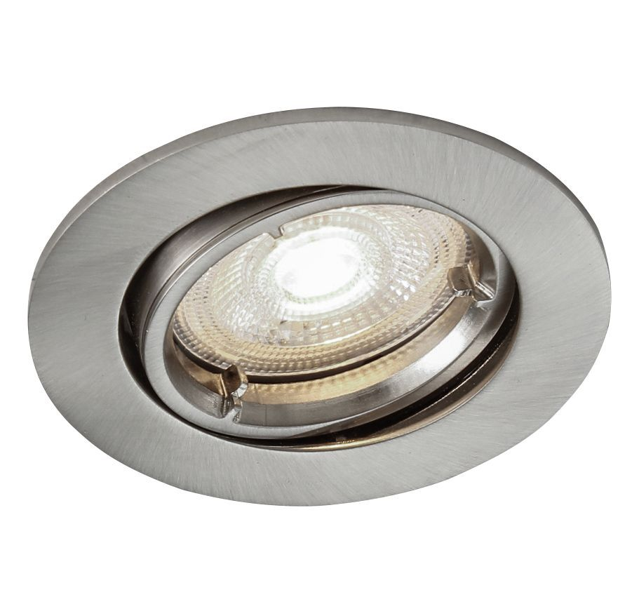 Colours Brushed Chrome effect Adjustable LED Downlight 4 ...