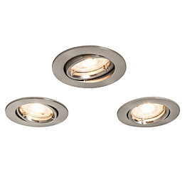Colours Brushed chrome LED Adjustable Recessed downlight 4.9