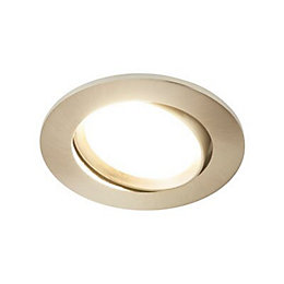Colours Brushed Chrome LED Adjustable Recessed Downlight 8.5