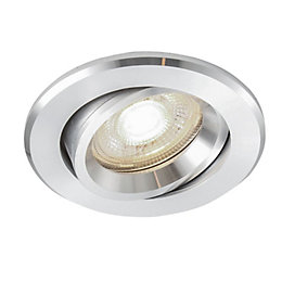 Colours Aluminium Effect LED Adjustable Recessed Downlight 4.9