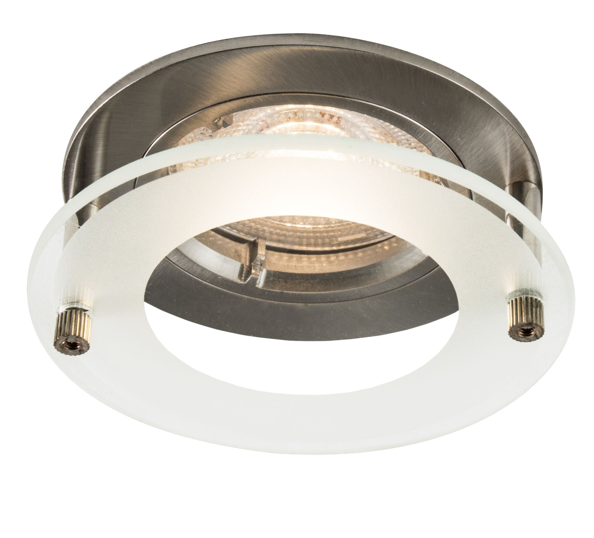 Colours Brushed chrome LED Fixed Recessed downlight 4.9 W ...